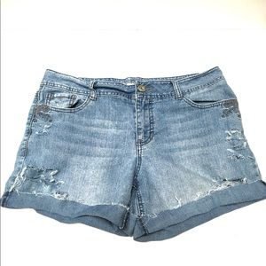Sonoma cut off distressed cuffed jeans shorts 12